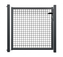 Portillon de jardin grillage rigide gris anthracite