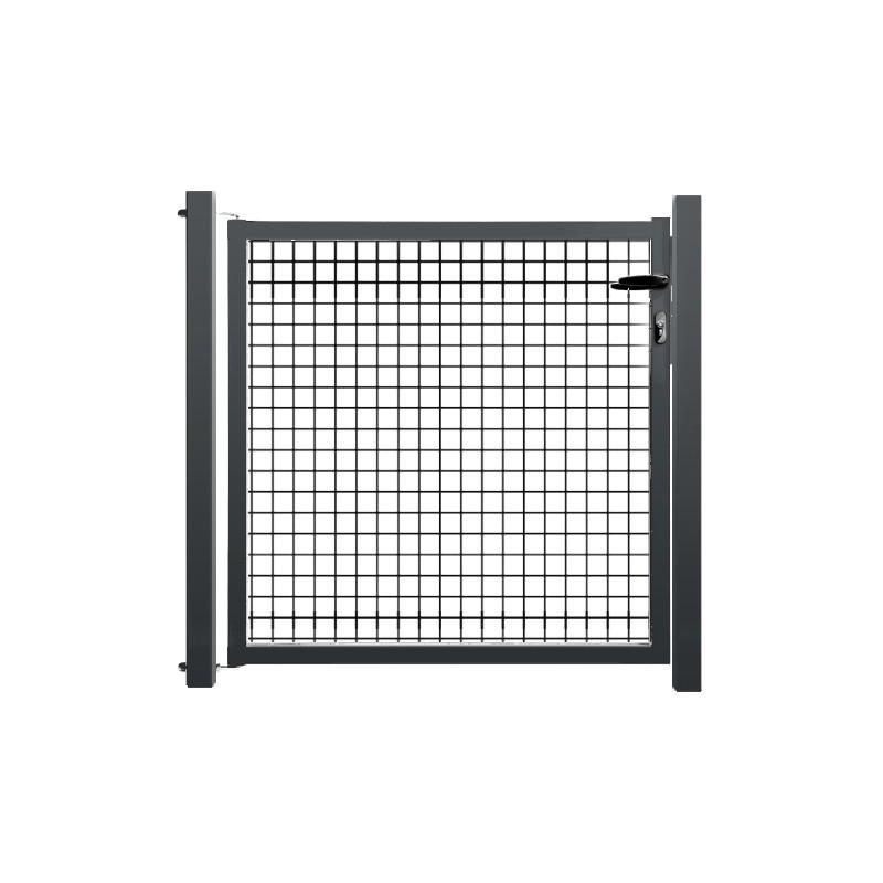 portillon de jardin grillag gris anthracite premier prix. Black Bedroom Furniture Sets. Home Design Ideas