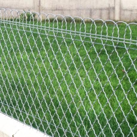 Kit 25 m clôture grillage ondulé à bordure parisienne galvanisé