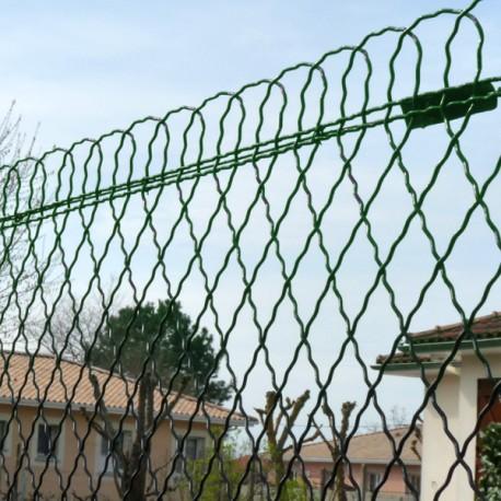 Clôture grillage bordure parisienne vert en rouleau