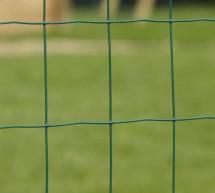 Kit 25m clôture soudée semi-rigide, grillage vert maille 100x75mm