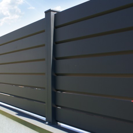 cl ture brise vue aluminium contemporain. Black Bedroom Furniture Sets. Home Design Ideas