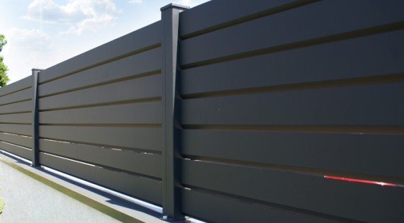 "Clôture Aluminium Brise-Vue gamme ""contemporain"""