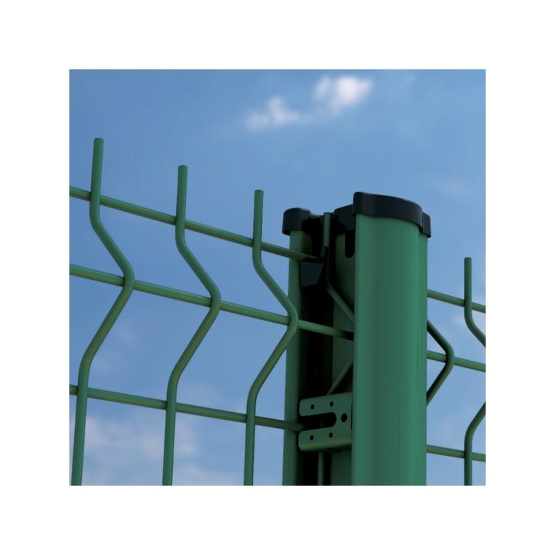 kit panneau rigide médium et poteau à clips vert pas cher