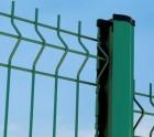 2m50 de clôture PANNEAU RIGIDE Fil ø 4-5mm VERT avec poteau à encoches