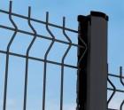 2m50 clôture panneau grillage rigide fil 4-5mm gris anthracite