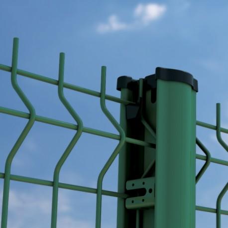 2m50 clôture panneau grillage soudé fil ø 4/5mm VERT avec poteau à clips