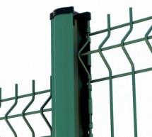 Kit clôture panneau grillage rigide fil 5mm VERT avec poteau à encoches