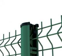 Clôture panneau grillage rigide PREMIUM vert avec poteau à clips