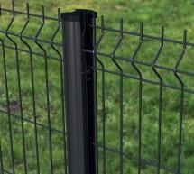 Kit Panneau Rigide PREMIUM + poteau à clips - Noir | Gris anthracite | Blanc