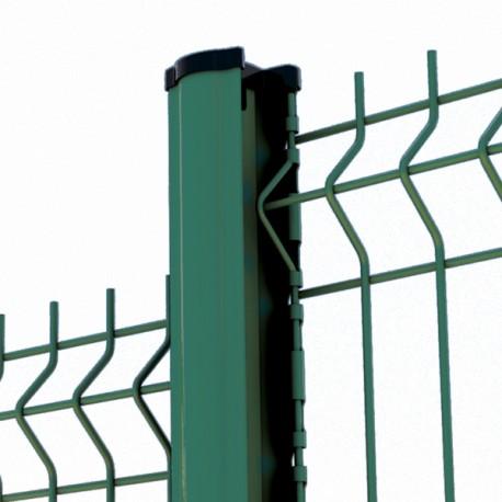 Clôture panneau rigide Premium vert avec poteau à encoches (pack 2m50 de clôture)