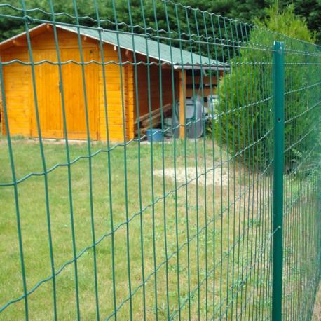 Kit 25 m clôture semi-rigide grillage soudé vert