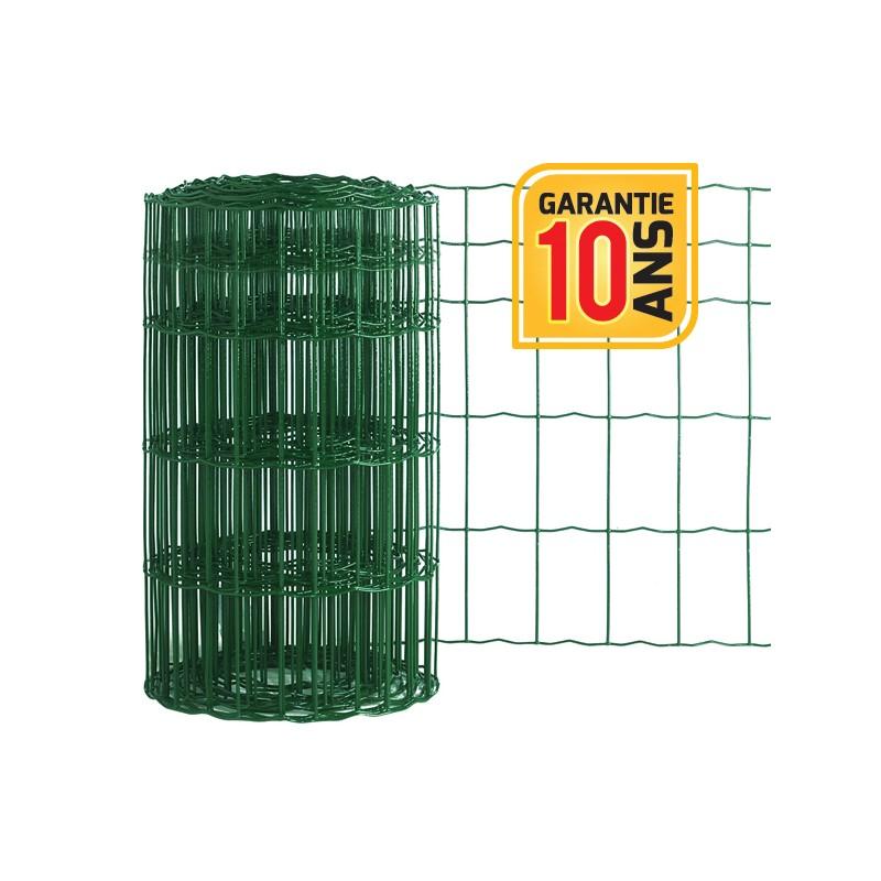 kit 25m de cl ture grillage soud pro en rouleau vert. Black Bedroom Furniture Sets. Home Design Ideas