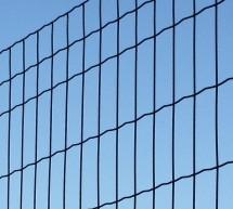 Kit 25 mètres clôture soudée semi-rigide gris anthracite, grillage soudé maille 100x50mm