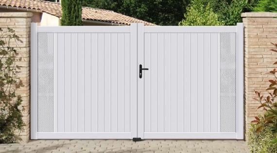 Portail aluminium Contemporain modèle SHADOW
