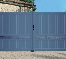 Portail aluminium Contemporain modèle ECLIPSE